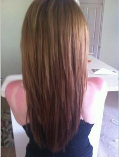 Thick chocolate brunette hair. Add a little coconut oil with honey a couple times a month to make your dry hair soft and shiny.