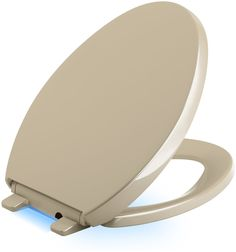 Reveal Nightlight Quiet-Close with Grip-Tight Elongated-Front Toilet Seat