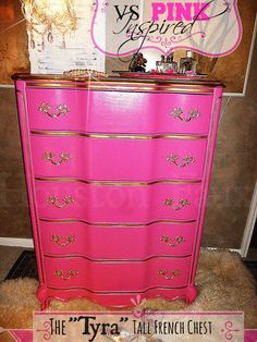 Victoria's Secret Inspired French Provincial Chest of Drawers / Tall Dresser on Etsy, $795.00