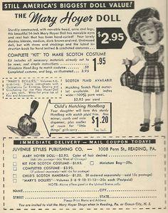 1950 Ad: Mary Hoyer Doll