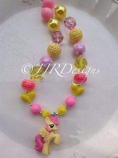 My Little Pony Inspired Girl Necklace Fluttershy by JJRDesigns, $22.25