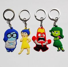 20PCS  Inside out  PVC Key chains  Action figures Keyring Keychain Kids Gift Bag Parts & Accessories