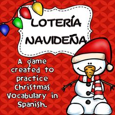 It's almost that time of year! The Winter Holidays are right around the corner and to make it a little more fun and exciting for my kids, I created this Lotería Navideña to help them practice their Spanish.