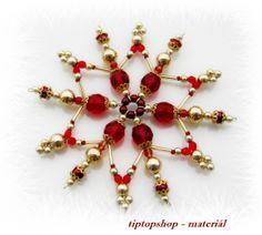 Vánoční hvězda rubínovo - zlatá, 11cm (1ks)