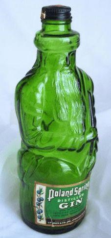 Glass: Poland Spring vintage bottle