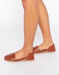 Bild 1 von London Rebel – Mica – Flache, gewebte Schuhe