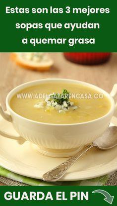 Diet Recipes, Dessert Recipes, Cooking Recipes, Healthy Recipes, Sopas Fitness, Cute Food, Good Food, Sopa Detox, Food And Drink