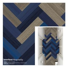 Interface Walk The Plank Carpet Tile, Herringbone Corridor