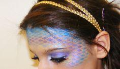 DIY Mermaid Make Up #FacePaint #DIY #FacePainting #Halloween #Costumes #HalloweenCostume #Birthdays #Birthday #Party #Parties #Mermaids