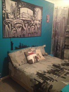 New York City Themed Bedroom