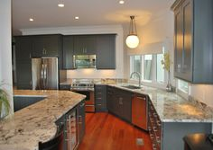 Dark Gray Kitchen Cabinetry -  Dura Supreme Cabinetry designed by Mevers Kitchens and Baths.