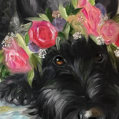 Whimsical Scotty Art by Mary Sparrow of Hanging the Moon Rudyard Kipling, Animals And Pets, Cute Animals, Terrier Dogs, Dog Portraits, Westies, Animal Paintings, Dog Art, Dog Love