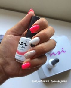 Polish Pro by NSI. Colours: VIPink, Road Trip and Blanca?