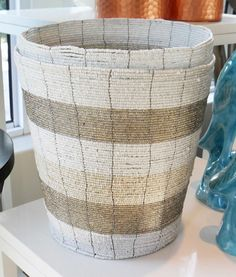 Beaded Vase - Inside Out Home Boutique Inside Out, Interior Inspiration, Basket, Boutique, Accessories, Home Decor, Decoration Home, Room Decor, Hamper