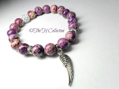 Gorgeous purple jasper gemstone beads with by TheHCollection, $21.95