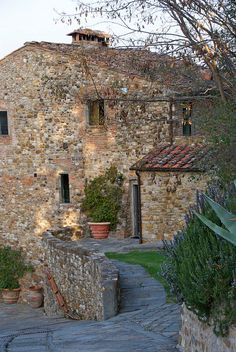 One of the Castello Farmhouses in Tuscany province of Florence Tuscany Italy; on my bucket list to rent a Tuscan farm house or villa!