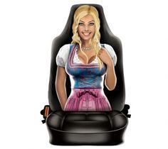 """Autositzbezug Travel Mate für Sitzlehne """"Trachtenfrau"""" 1 Stück Textiles, Shopping, Woman, Cloths, Fabrics"""