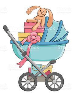 Baby stroller vector illustration royalty-free stock vector art