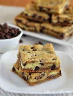 Cheesecake Chocolate Chip Cookie Bars - Life In The Lofthouse