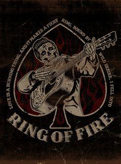 RING OF FIRE - LA MARCA DEL DIABLO by Maleficio Rodriguez, via Behance