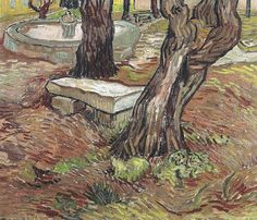 Vincent van Gogh - Bench in the Park of the Asylum at Saint-Remy, 1889