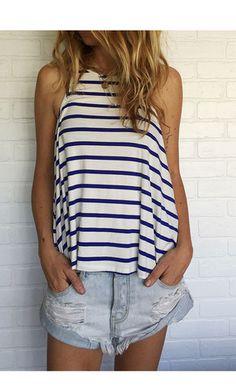 miller striped tank / blue