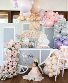 In love with this pretty birthday we created for princess Anastasia. Princess Party Decorations, Princess Party Favors, First Birthday Decorations, Kids Party Decorations, Happy First Birthday, Birthday Gift For Him, Baby Girl Birthday, Princess Birthday, Birthday Ideas