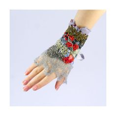 Beaded cuff-Textile Jewelry Krista  R