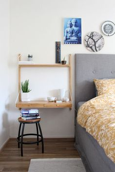 Ideas and inspiration Small Apartment Furniture, Space Saving Furniture, Apartment Living, Furniture Ideas, Home Office Design, Home Office Decor, Home Decor Bedroom, Svalnäs Ikea, Small Home Offices