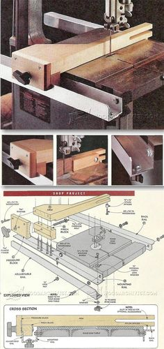 Band Saw Fence System Plans - Band Saw Tips, Jigs and Fixtures | WoodArchivist.com