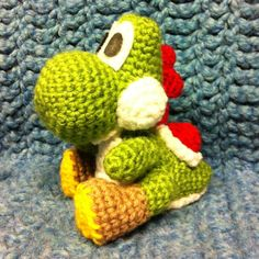 Crochet your own Yoshi inspired by Yoshis Woolly World for the Wii U!  This is a listing for the PDF pattern. The pattern has 7 pages of instruction