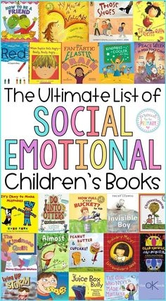 The Ultimate Social Emotional Learning Childrens Book List. Show Important Social Skills In The Classroom With These Titles That Are Perfect For Discussions, Read Aloud, And Used As Mentor Texts O Guide Character Education Lessons. Social Emotional Development, Social Emotional Learning, Emotional Support Classroom, Character Education Lessons, Physical Education, Elementary Guidance Lessons, Education City, Special Education, Education Humor