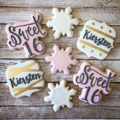 Sweet 16 cookies - Birthday party cookies - Courtney's Cookie Jar