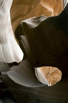 ✯ Sandstone layers in Antelope Canyon, Arizona