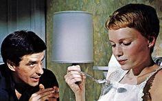 John Cassavetes and Mia Farrow in Rosemary's Baby  1968