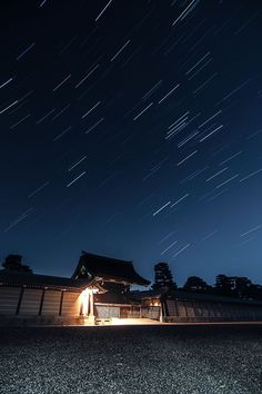 Kyoto Imperial Palace, Japan 京都御所の星空