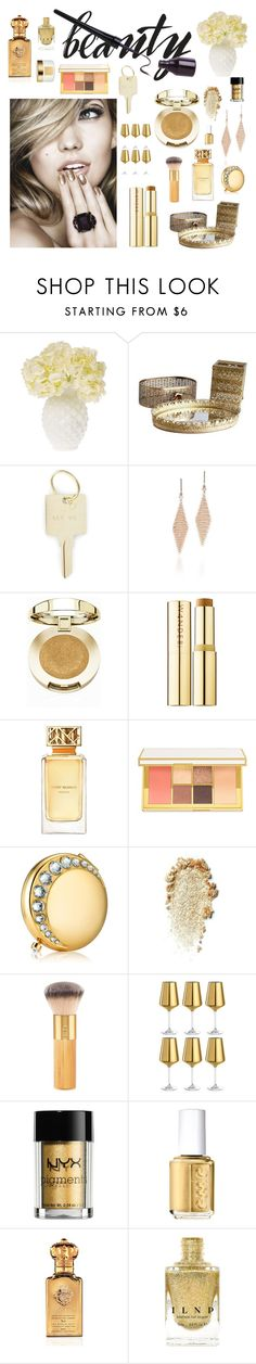 """""""Metallic makeup"""" by shangalairina ❤ liked on Polyvore featuring beauty, Cultural Intrigue, The Giving Keys, Tiffany & Co., Milani, Wander Beauty, Tory Burch, Tom Ford, Estée Lauder and tarte"""