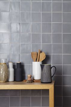 Handmade New Terracotta tiles // Matte grey square