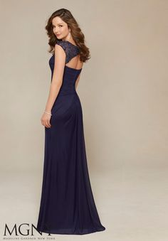 61de19ef17de Evening Gowns and Mother of the Bride Dresses by Morilee. Stretch Mesh with  Beaded Yoke