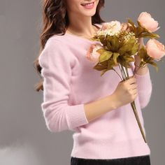 winter sweater really warm and soft sweater women mink cashmere sweaters o-neck Slim bottoming shirt  thick sweater pullover