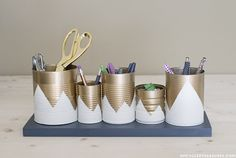 DIY Room Decor: 9 Stylish Ways to Upcycle & Reuse Tin Cans | Apartment Therapy