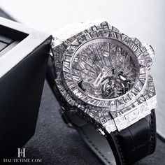 The Hublot Impact Big Bang High Jewelry piece released at #baselworld2016 @hublot