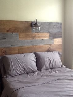Barn wood and rustic plank headboard by Vintage Headboards - contact us to place your orders. vintageheadboards.storenvy.com