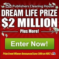 Publishers Clearing House is America's most trusted and respected sweepstakes marketer. It was in 1967 that the company first launched a sweepstakes campaign, and not surprisingly, a chance to win money generated significant response. Sweepstakes offers have been a source of entertainment and excitement ever since, driving high user engagement for online media programs. More than $240 million in prizes have been awarded…and still counting! $0.00 USD