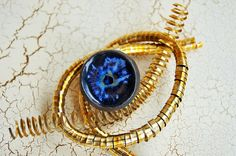 Womens Ring Ceramic Ring Blacke Blue Keramik Schmuck Womens