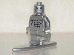 LEGO Silver Surfer Minifig Figure Custom Marvel Super Heroes
