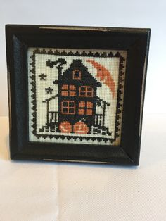 This Old House, a Vintage Halloween Cross Stitch