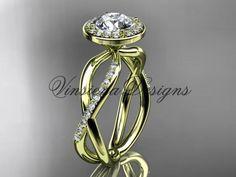 14k yellow gold diamond engagement ring VD10079