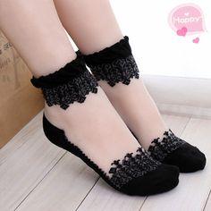 You will feel like a Princess wearing these! Womens socks, it is like a bud silk lace, leisure socks of transparent cute socks.Nylon Ankle Socks