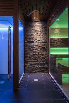 Wellness Area at Agriturismo L'Adagio: Sauna, Steam Bath, Emotional Shower and ice Bucket by Carmenta.